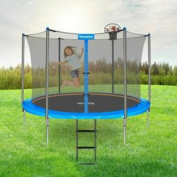 North Gear 10' Trampoline Set with Safety Enclosure and Ladd