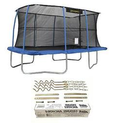 """JumpKing 10 x 14"""" Trampoline with Safety Net and XDP Recreat"""