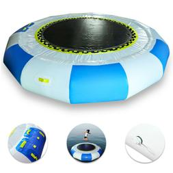 10Ft Inflatable Floating Trampoline, 0.7mm Thicken Swimming