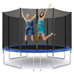 10ft Trampoline All-Round Enclosure Net Jumping Mat Spring P