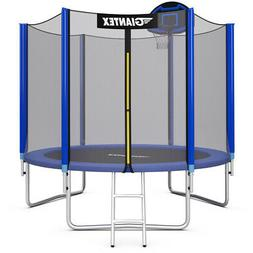 Giantex 10FT Trampoline Combo Bounce Jump Safety Enclosure N