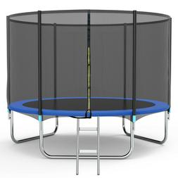 10FT Trampoline for Kids and Teens with Safety Enclosure Net