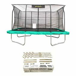 JumpKing 10x14 Foot Trampoline w/ Safety Net and Recreation