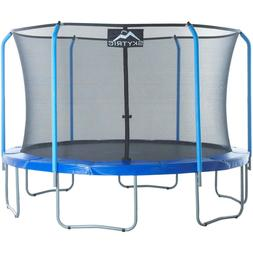 SKYTRIC 11-Foot Trampoline, with Safety Enclosure, Blue