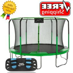 Skytric 11' Round Trampoline with Trampoline Jumping Skate -