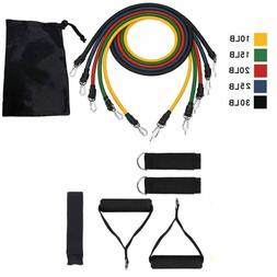11pcs Fitness Resistance Band Rope Exercise Equipment For Yo