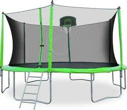 12 feet round trampoline with safety enclosure