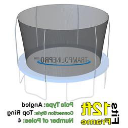 12' Round Replacement Safety Net for 4 Top Ring Poles System
