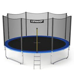 Giantex 12' Trampoline Combo Bounce Jump Safety Enclosure Ne