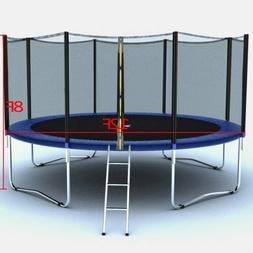 12FT Trampoline Combo Bounce Jump Safety Enclosure Net W/Spr