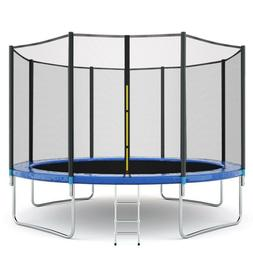New 12FT Trampoline Combo Bounce Jump Safety Enclosure Net w