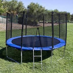12ft trampoline combo bounce jump safety enclosure