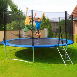 12 ft kids trampoline with enclosure net