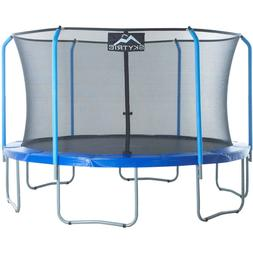 SKYTRIC 13-Foot Trampoline, with Safety Enclosure, Blue