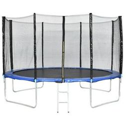 13ft Kids Combo Bounce Jump Safety Trampoline with Spring Pa