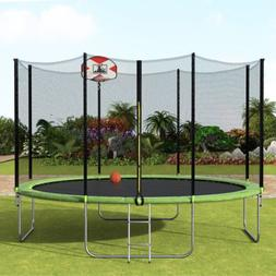 Merax 14-Feet Round Trampoline with 96PCS Springs And Ladder