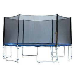 ExacMe 14 Foot Trampoline with Safety Pad, Enclosure Net, an