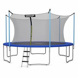 14 FT Trampoline Combo Bounce Jump Safety Enclosure Net W/ S