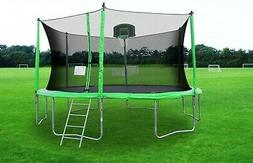 14 round trampoline with safety enclosure