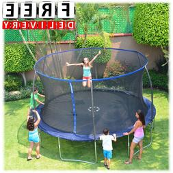 14' Trampoline With Enclosure Bounce Round Kid Outdoor Fun H