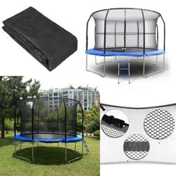 14Ft 8Pole Round Trampoline Enclosure Net Fence Replacement