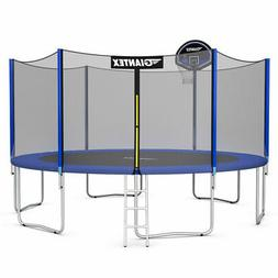 14FT Trampoline Combo Bounce Jump Safety Enclosure Net W/ Ba