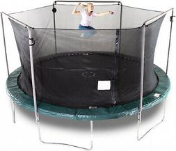 15-Foot Trampoline Enclosure W Safety Net Round Bounce Pro H