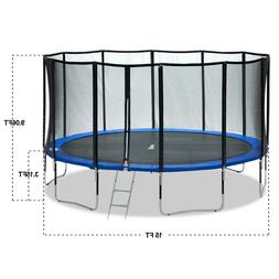Exacme 15 FT Round Trampoline Carbon Fibre With 400 LBS Weig