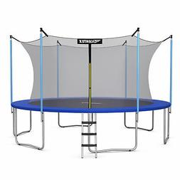 15 FT Trampoline Combo Bounce Jump Safety Enclosure Net W/ S