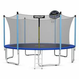 15 FT Trampoline Combo Bounce Jump Safety Enclosure Net W/Ba