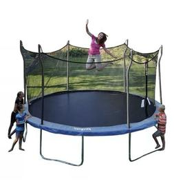 15 FT Trampoline Combo Bounce Jump Safety Enclosure Net W/Sp
