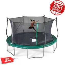 Bounce Pro 15-Ft Trampoline, With Safety Enclusure, Electron