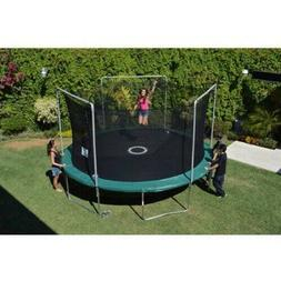 15' Round Trampoline Enclosure Combo With Shooter Game Outdo