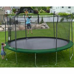 15' Round Trampoline Safety Enclosure Basketball Hoop Outdoo