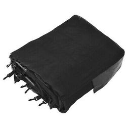 12FT Replacement Trampoline Safety Enclosure Net w/ Zipper &