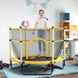 15FT Trampoline Combo Bounce Jump Safety Enclosure Net W/ Ba