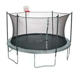 JumpZone 15ft Trampoline Round with Enclosure and DunkZone B