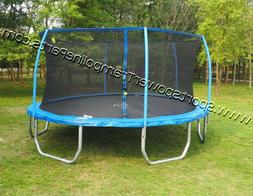 15x17 Sportspower Oval Trampoline and Enclosure Combo