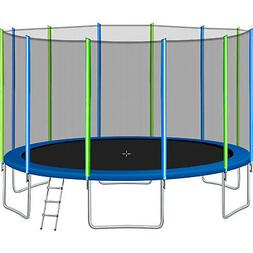 16 FT Trampoline Combo Bounce Jump Safety Enclosure Net w/Sp