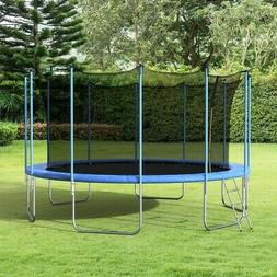 16FT Round Trampoline with Safety Enclosure Ladder Outdoor A