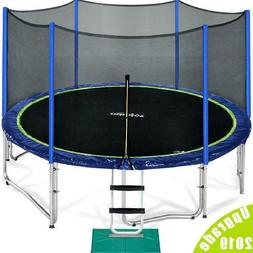 Zupapa 2019 Upgraded 15FT Trampoline with enclousre net ladd