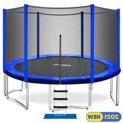 ORCC 2020 Upgrade 15FT Trampoline with Enclosure Net Pad Lad