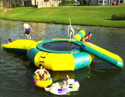 20x20 Commercial Inflatable Floating Trampoline Water Slide