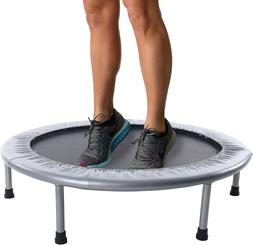 36-Inch Folding Trampoline to Free Workouts Included Support