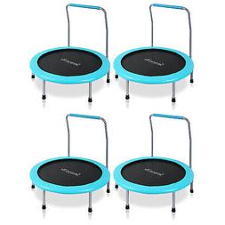 SereneLife 36 Inch Kids Outdoor Fitness Trampoline & Padded