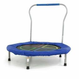"36"" Mini Trampoline With Handle Stability Bar Kids Toy Round"