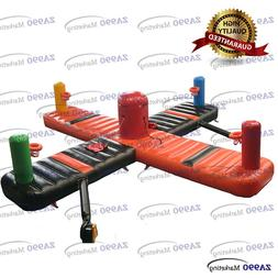 4 Players Commercial Inflatable Bungee Run & Basketball Spor