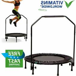 "40"" FOLDABLE MINI REBOUNDER Trampoline Jump Home Gym Cardio"
