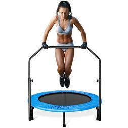 "40"" Mini Rebounder Trampoline With Adjustable Handrail Bounc"