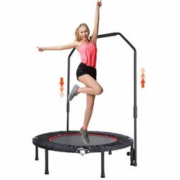 """40"""" Mini Trampoline with Adjustable Handrail Fitness Exercis"""